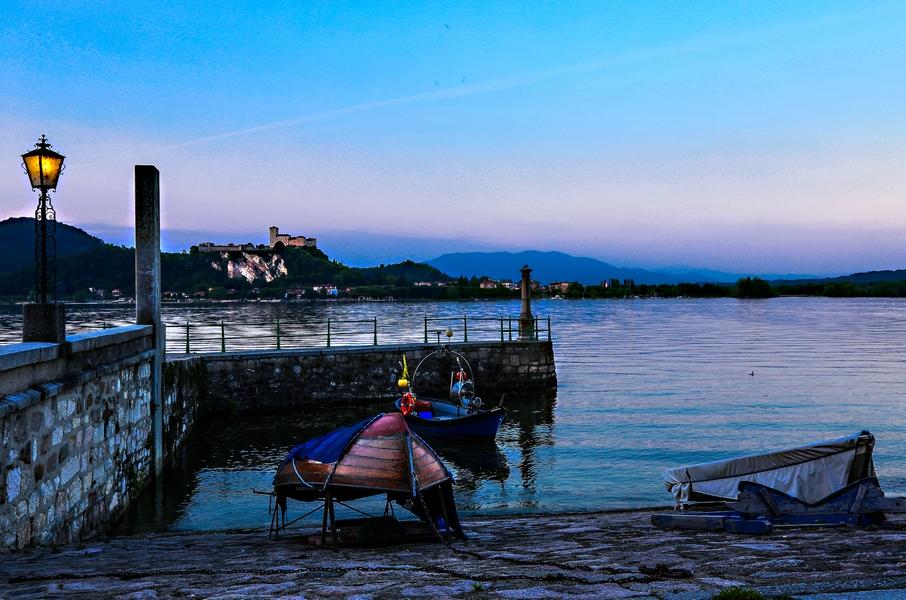 Lago Maggiore Arona lake